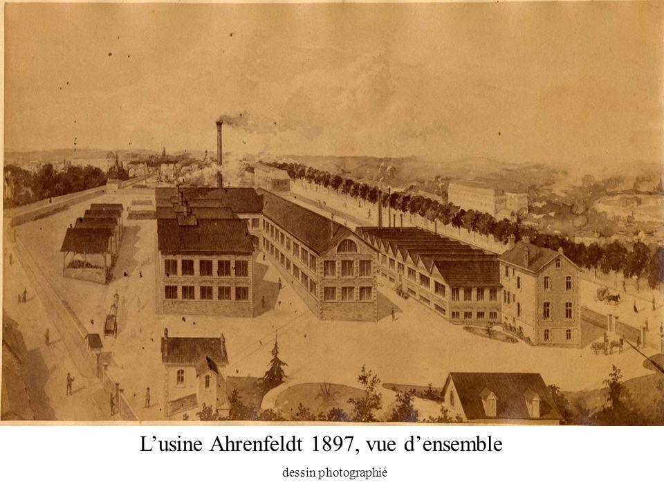 Lusine Ahrenfeldt 1897, vue densemble dessin photographié