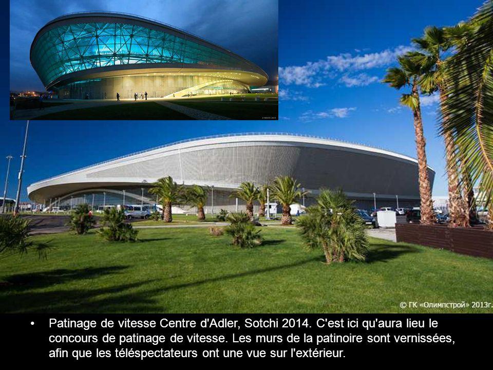 Petit Palais des glaces/Galerie Arena, Sotchi 2014 « Galerie » en russe signifie la rondelle dans le hockey.