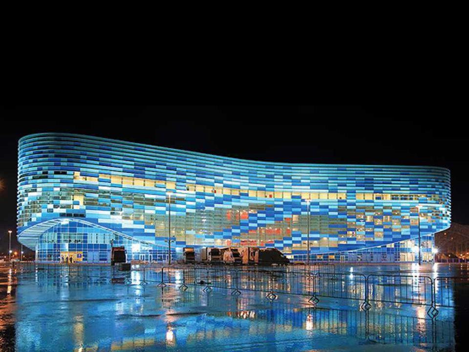 Le Palais de glace Iceberg, Sotchi 2014 est conçu pour les compétitions de patinage artistique et patinage de vitesse sur courte distance [courte piste].