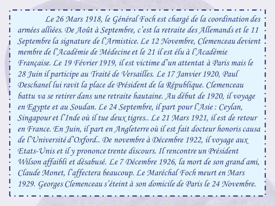 Ce monument, œuvre de Sicard, fut inauguré à Sainte-Hermine en présence de Clémenceau, le 2 Octobre 1921. Il prononça, à cette occasion, un discours t