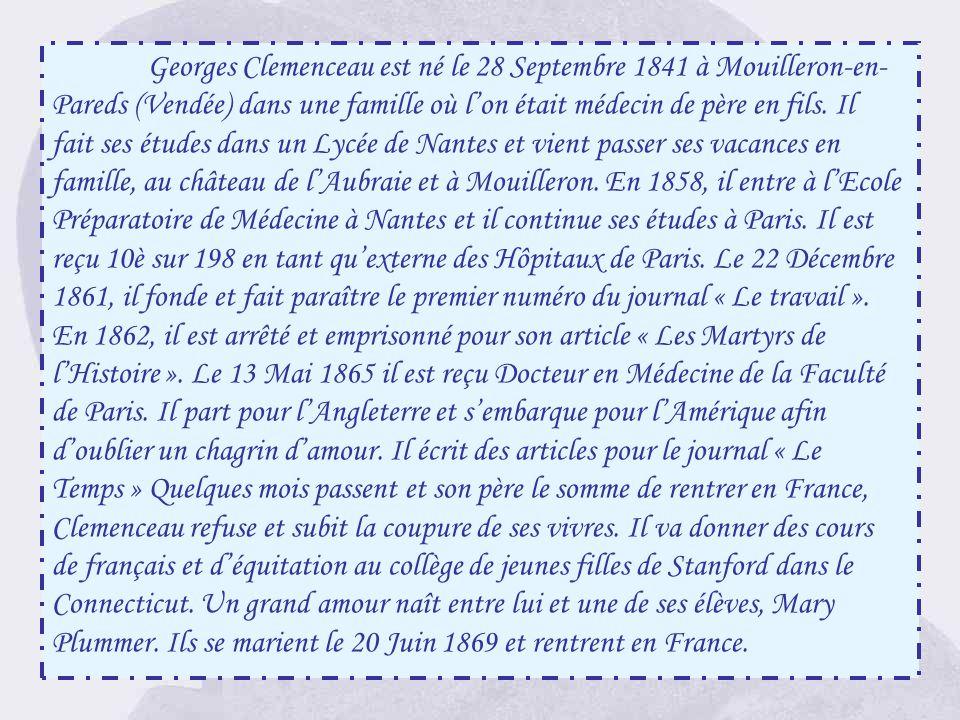 « La municipalité de Mouilleron-en-Pareds a fait poser cette plaque le 12 Janvier 1919 en témoignage de ses sentiments de fierté et dadmiration pour s