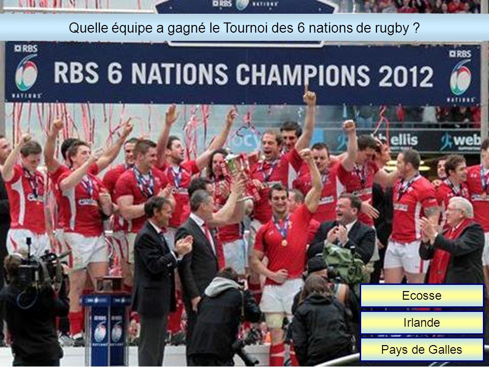 Ecosse Irlande Pays de Galles Quelle équipe a gagné le Tournoi des 6 nations de rugby ?