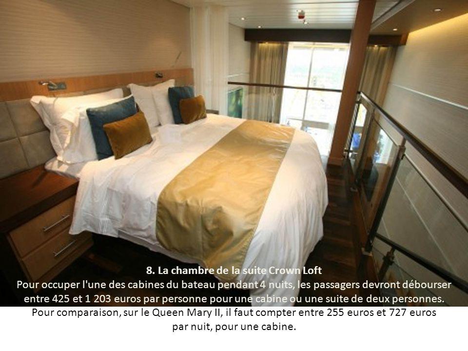 7. La suite Crown Loft Toutes les cabines de l'''Allure of the Seas'' sont équipées tout confort, mais celles des derniers étages sont les plus luxueu