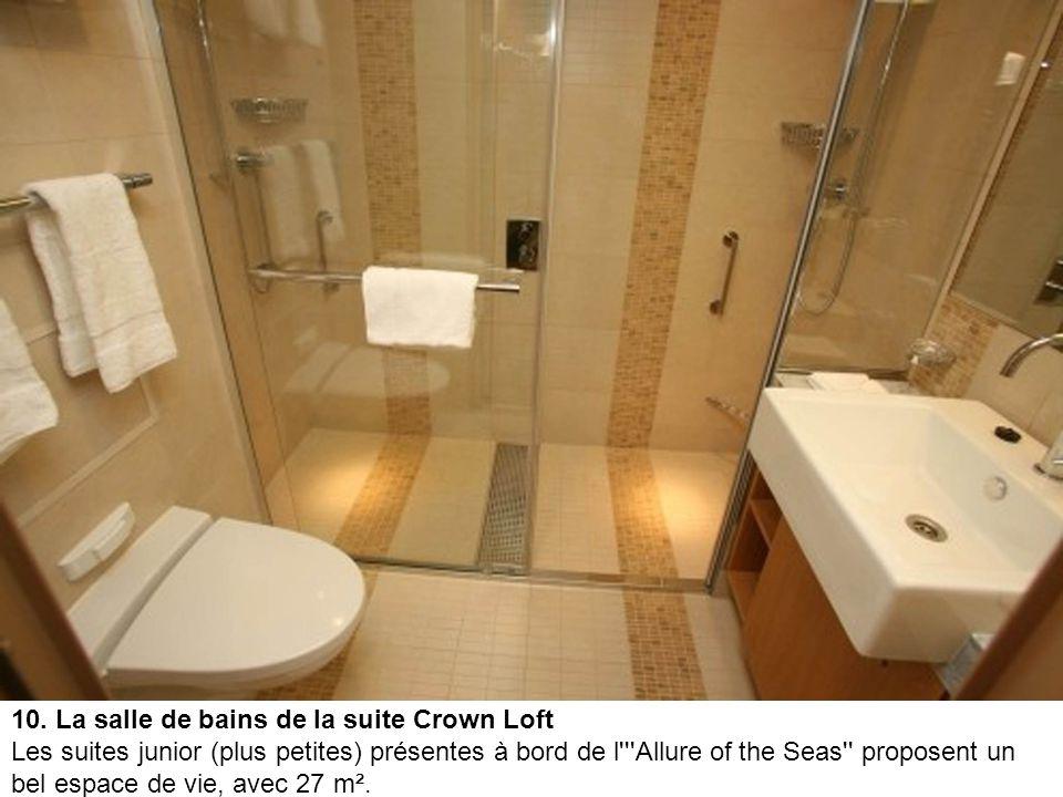 9. Le balcon de la suite Crown Loft Chaque suite dispose d'un balcon privatif, d'une taille variant de 8 m² à 11 m². Les cabines