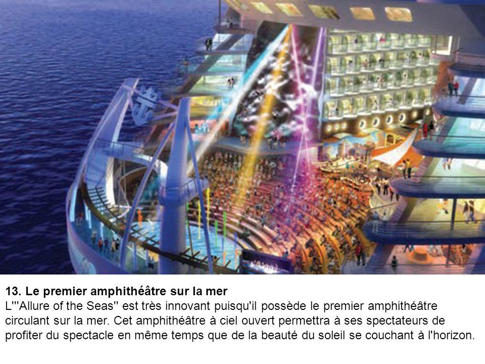 12. Une suite sur deux niveaux Dans l'esprit des lofts et duplex que l'on trouve sur la terre ferme, les suites de l'''Allure of the Seas'' sont conçu