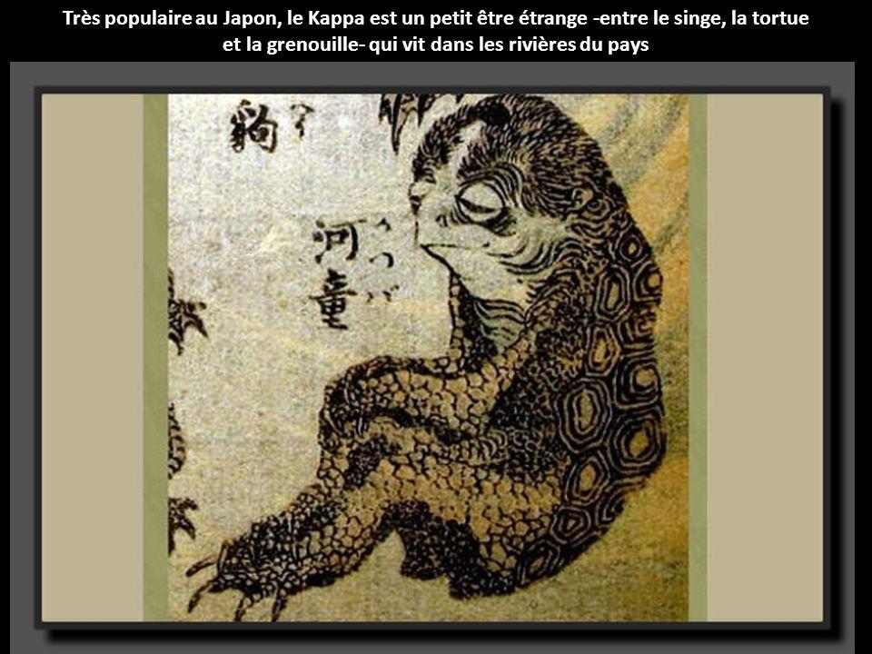 Le Ushioni est un animal aquatique au corps d'araignée (ou de crabe) et à la tête de boeuf qui vit dans la mer du Japon.