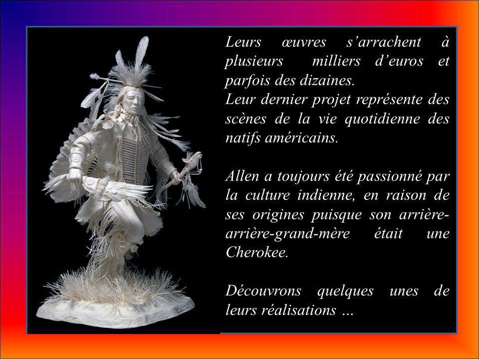 Les Allen et Patty Eckman, artistes américains, ont réalisé des sculptures détaillées uniquement faites de papier.