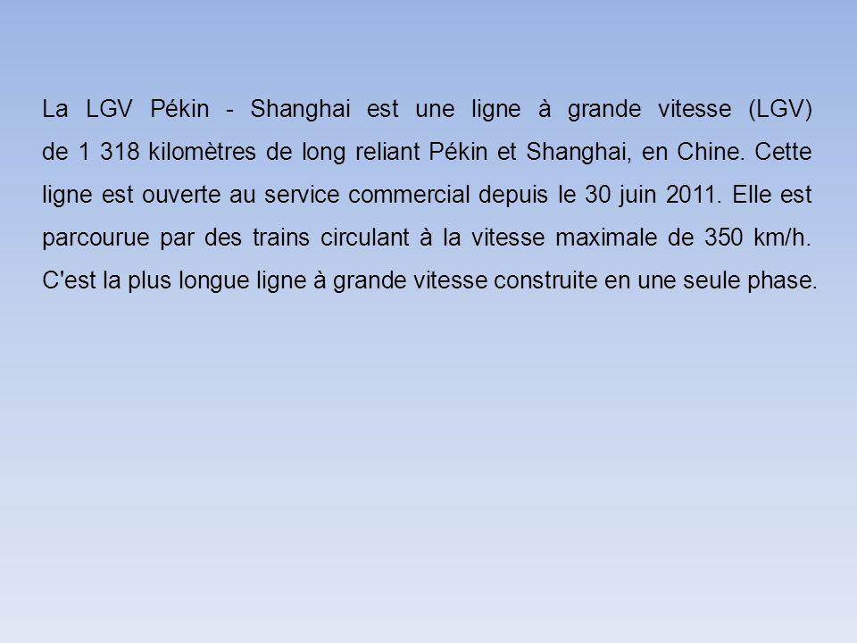 La LGV Pékin - Shanghai est une ligne à grande vitesse (LGV) de 1 318 kilomètres de long reliant Pékin et Shanghai, en Chine.