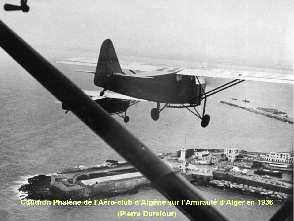 Caudron Phalène de lAéro-club dAlgérie sur lAmirauté dAlger en 1936 (Pierre Durafour)