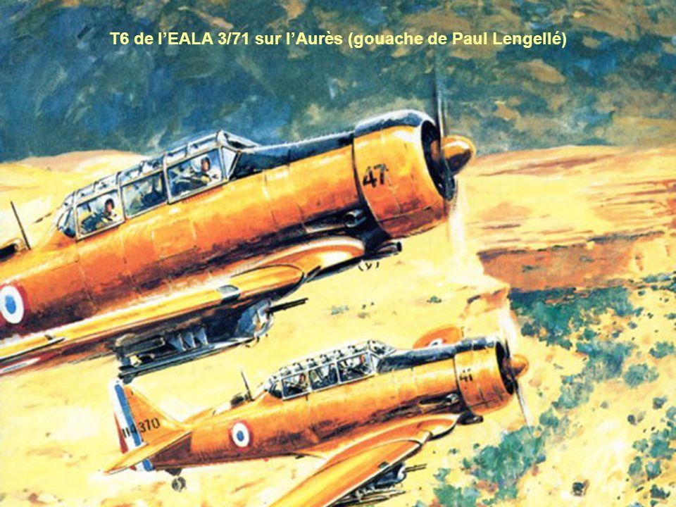 T6 de lEALA 3/71 sur lAurès (gouache de Paul Lengellé)