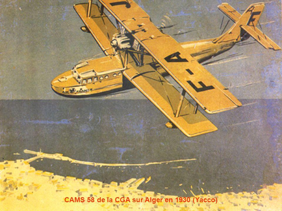 Caudron Phalène de lAéro-club dAlgérie sur la baie dAlger en 1936 (Pierre Durafour)