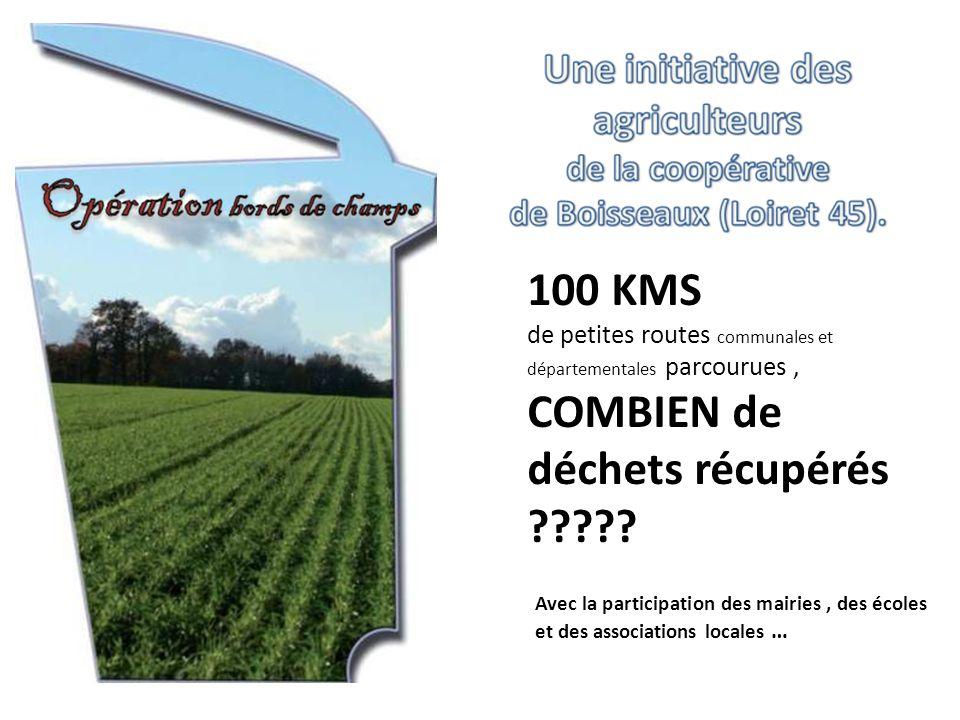 Avec la participation des mairies, des écoles et des associations locales … 100 KMS de petites routes communales et départementales parcourues, COMBIEN de déchets récupérés ?????