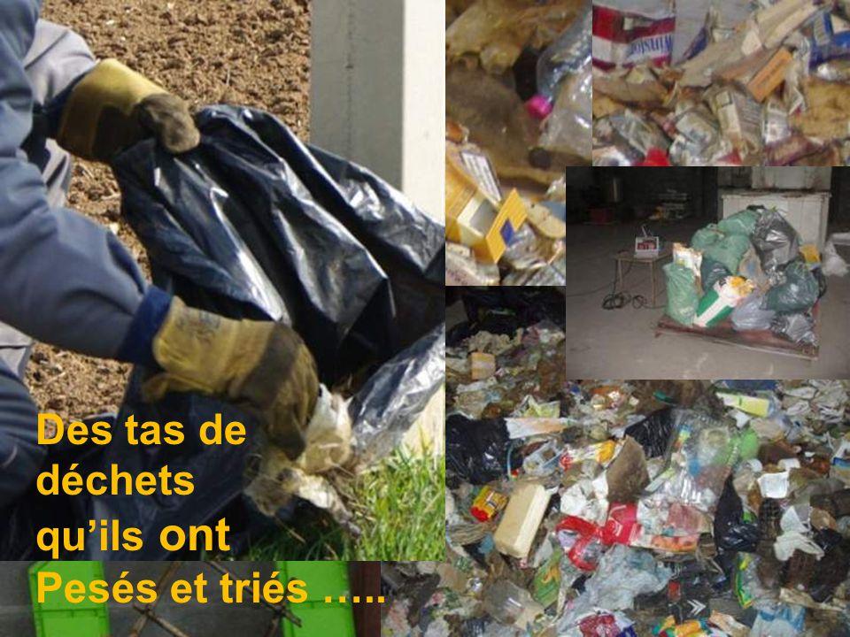 1 sapin de Noël, passe mais le reste?? Des tas de déchets quils ont Pesés et triés …..