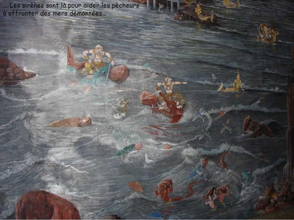... Les sirènes sont là pour aider les pêcheurs à affronter des mers démontées...