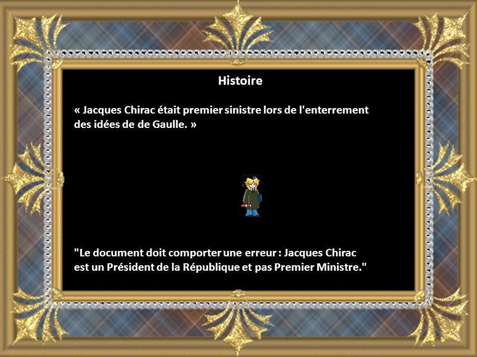 Histoire « Jacques Chirac était premier sinistre lors de l enterrement des idées de de Gaulle.