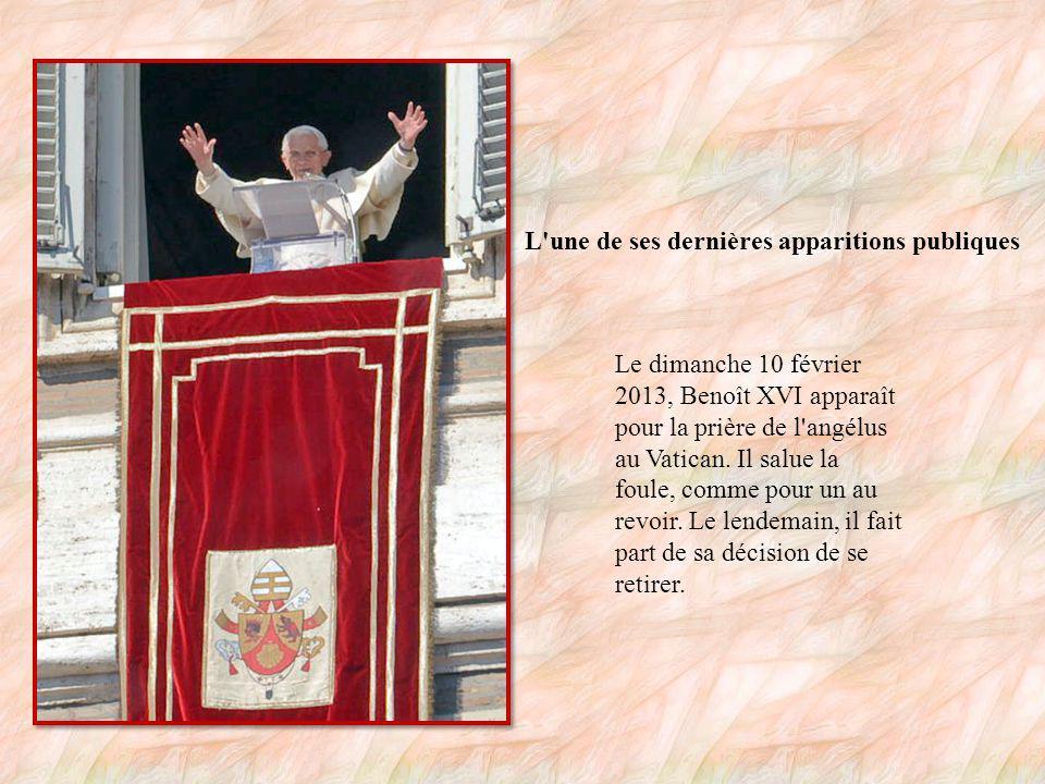 8 ans de pontificat Benoît XVI, premier pape du XXIe siècle uniquement, sera donc resté un peu moins de 8 ans à la tête de l Église catholique.