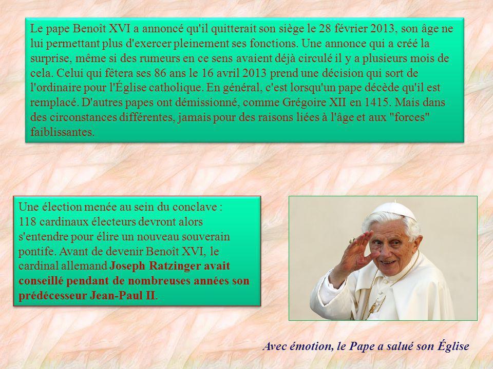 L une de ses dernières apparitions publiques Le dimanche 10 février 2013, Benoît XVI apparaît pour la prière de l angélus au Vatican.