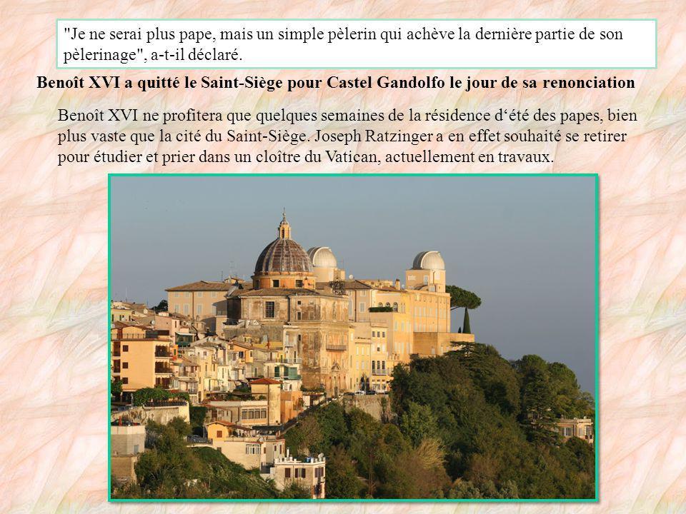 Le pape Benoît XVI a annoncé qu il quitterait son siège le 28 février 2013, son âge ne lui permettant plus d exercer pleinement ses fonctions.