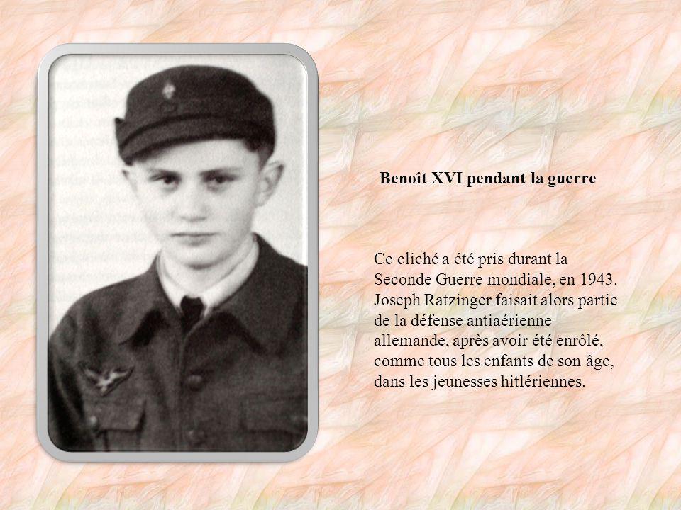 L enfance de Benoît XVI Il ne s appelait encore que Joseph Ratzinger.