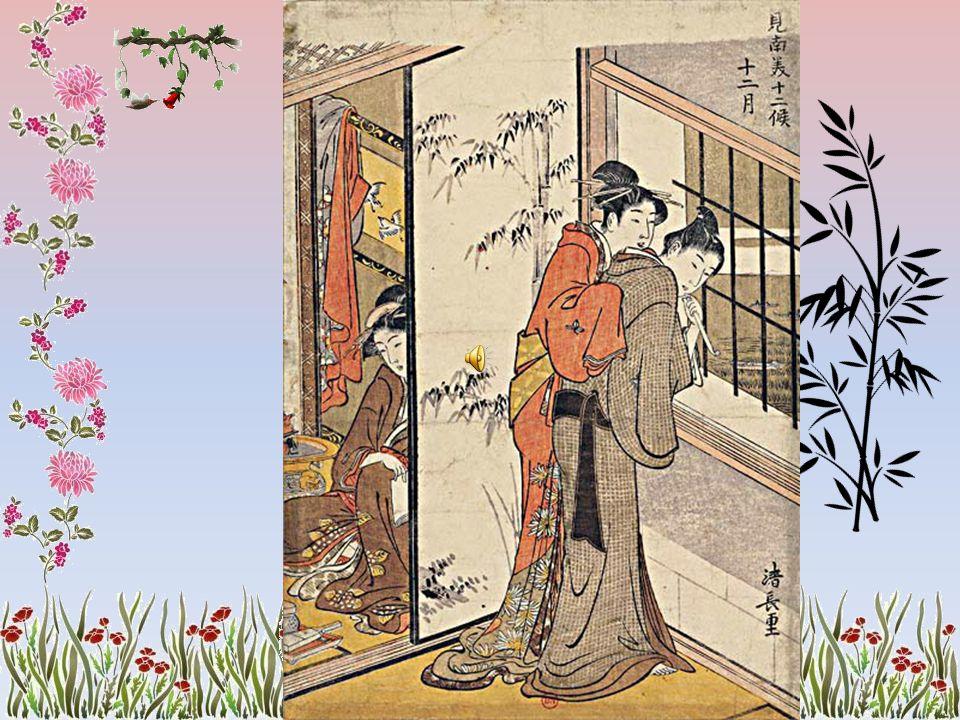 Le Mont Fuji, et la nature toujours présente, les jeux de lumière et de transparence à travers les sudare, le théâtre Kabuki, les courtisanes des mais