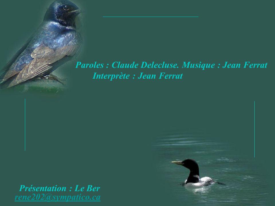 Paroles : Claude Delecluse.