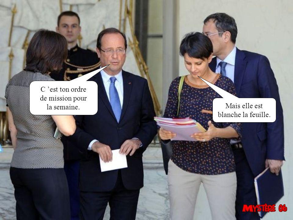 Dans le prochain gouvernement, François il a dit que je serai Ministre de la poussée des arbres.