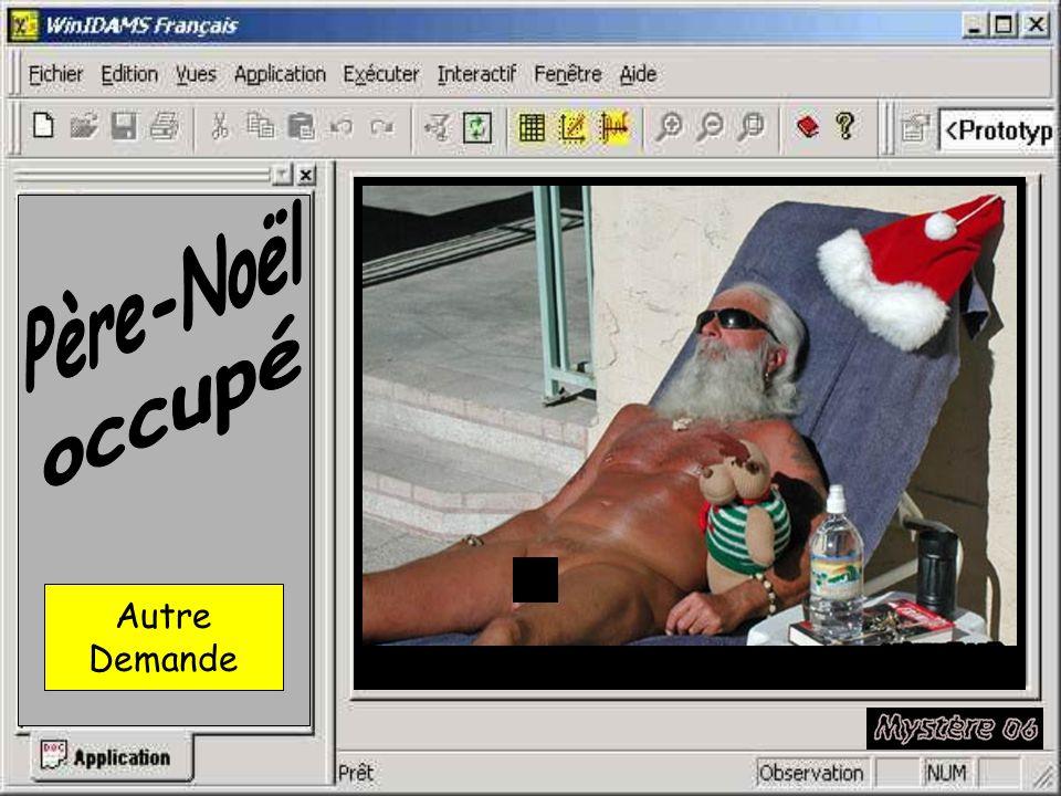 Je demande de l aide au Père-Noël. Demande envoyée