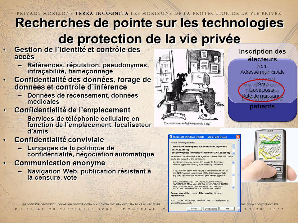 29e CONFÉRENCE INTERNATIONALE DES COMMISSAIRES À LA PROTECTION DES DONNÉES ET DE LA VIE PRIVÉE 29 th INTERNATIONAL CONFERENCE OF DATA PROTECTION AND PRIVACY COMMISSIONERS (irf)