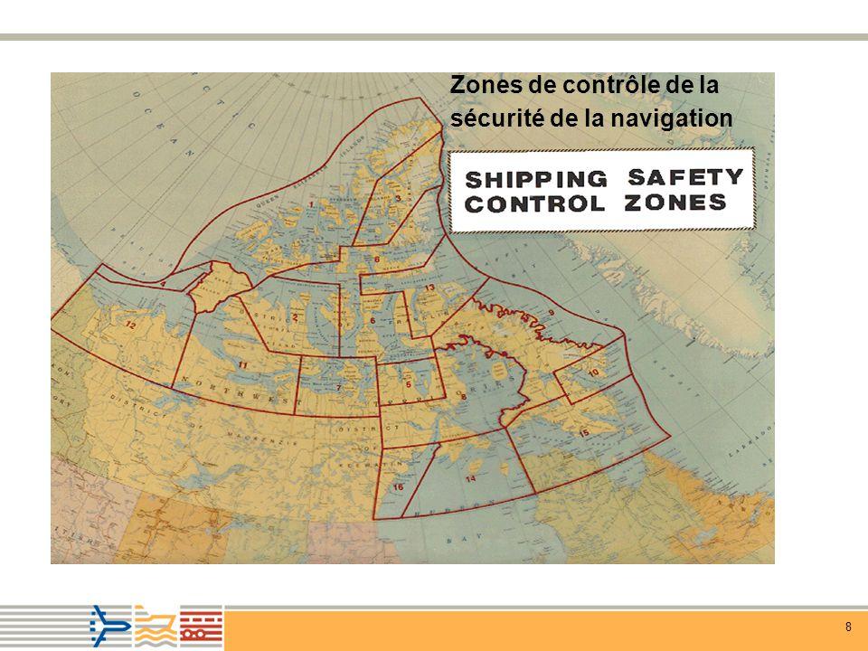 8 Zones de contrôle de la sécurité de la navigation