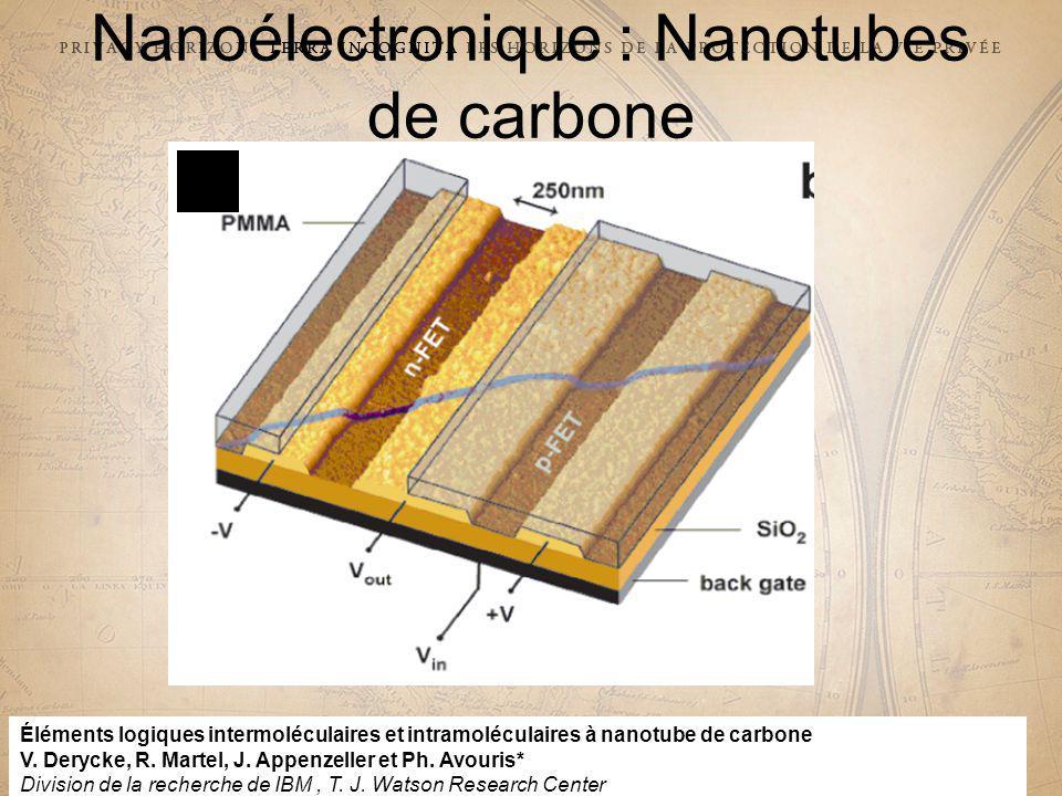 29e CONFÉRENCE INTERNATIONALE DES COMMISSAIRES À LA PROTECTION DES DONNÉES ET DE LA VIE PRIVÉE 29 th INTERNATIONAL CONFERENCE OF DATA PROTECTION AND PRIVACY COMMISSIONERS 29e Confrence internationale des commissaires à la protection de la vie prive Nanoélectronique : Nanotubes de carbone Éléments logiques intermoléculaires et intramoléculaires à nanotube de carbone V.
