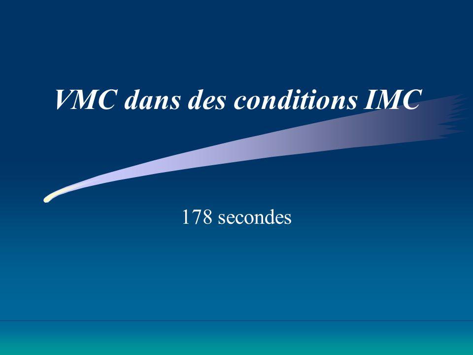 VMC dans des conditions IMC 178 secondes