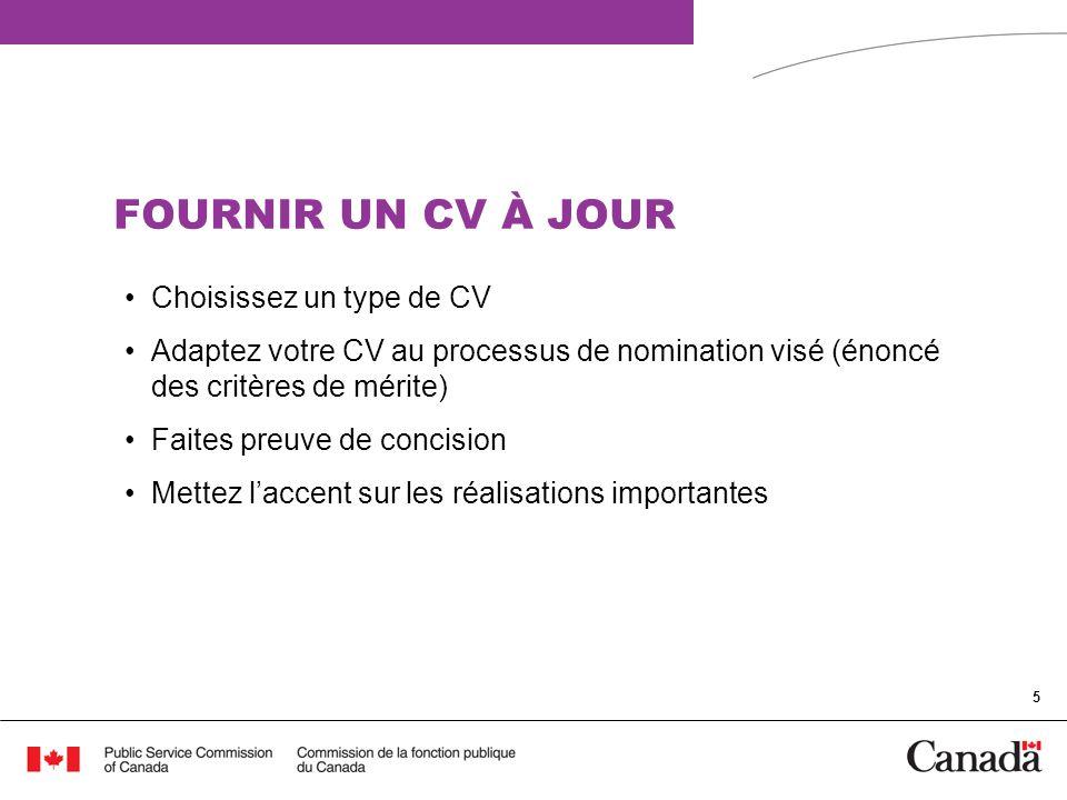 6 LETTRE DE PRÉSENTATION CIBLÉE La lettre de présentation complète votre CV Elle doit traiter de chaque exigence précise de présélection (c.