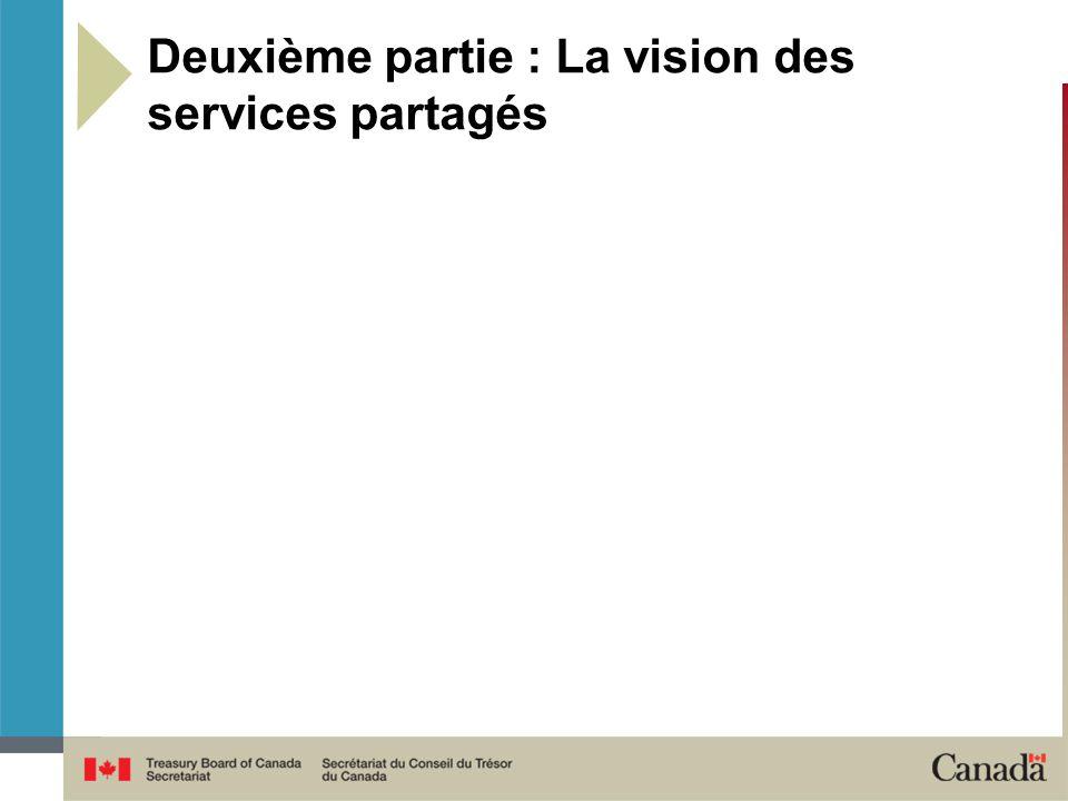 Deuxième partie : La vision des services partagés