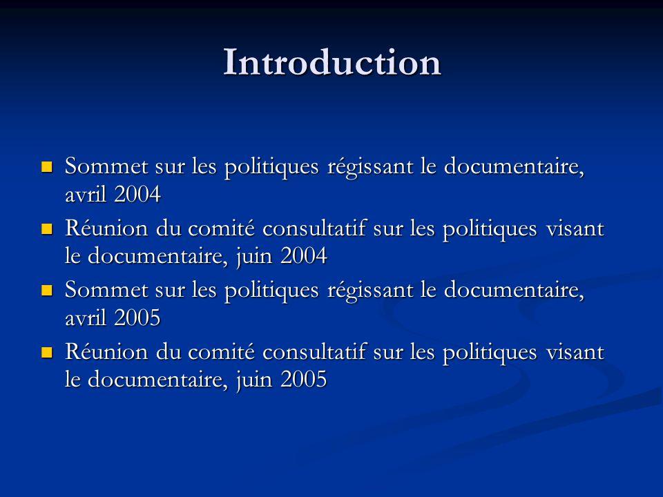 Production documentaire – Tableau 1