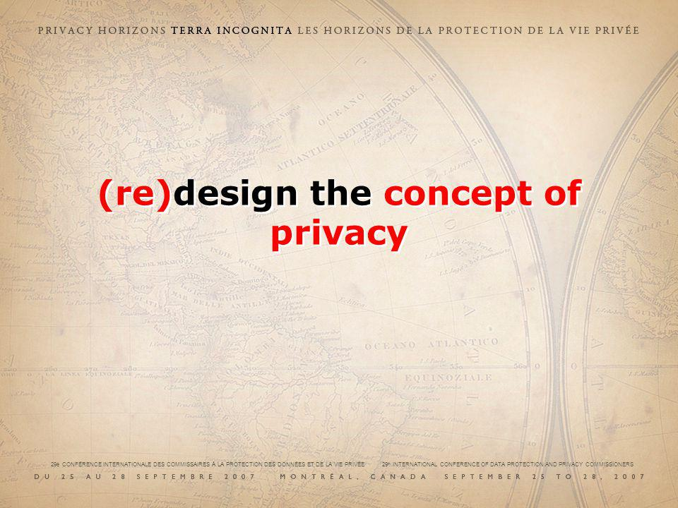 (re)design the concept of privacy