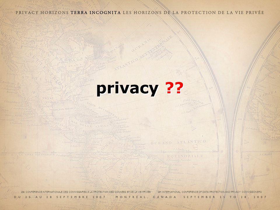 29e CONFÉRENCE INTERNATIONALE DES COMMISSAIRES À LA PROTECTION DES DONNÉES ET DE LA VIE PRIVÉE 29 th INTERNATIONAL CONFERENCE OF DATA PROTECTION AND PRIVACY COMMISSIONERS