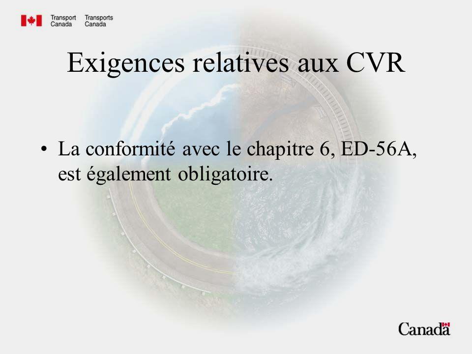 Recommandations du BST relatives aux CVR Améliorer la qualité et lintelligibilité des enregistrements de CVR.