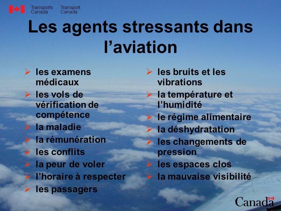 Transports Canada Transport Canada Les agents stressants dans laviation les examens médicaux les vols de vérification de compétence la maladie la rému