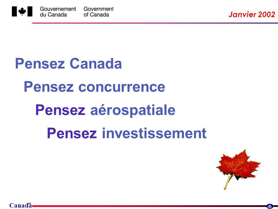 Canada 1 Janvier 2002 Pensez Canada Pensez aérospatiale Pensez investissement Pensez concurrence
