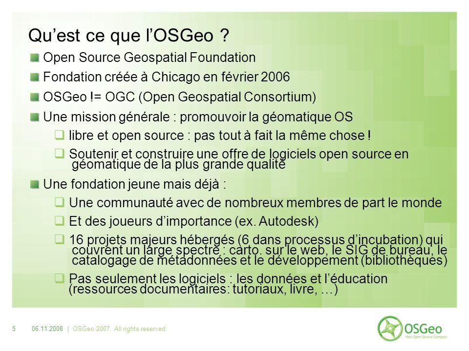 http://www.osgeo.org 606.11.2008 | OSGeo 2007. All rights reserved