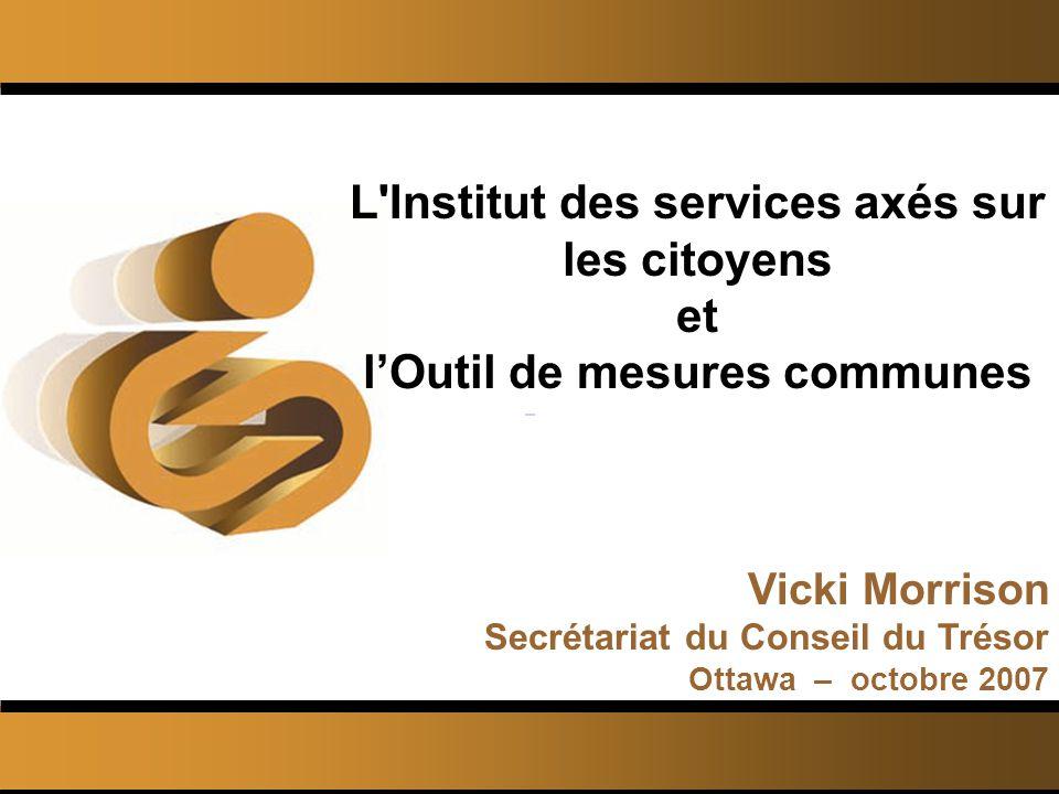 © L Institut des services axés sur les citoyens 2 Ordre du jour L Institut des services axés sur les citoyens Recherche de lISAC Cest quoi lOMC.