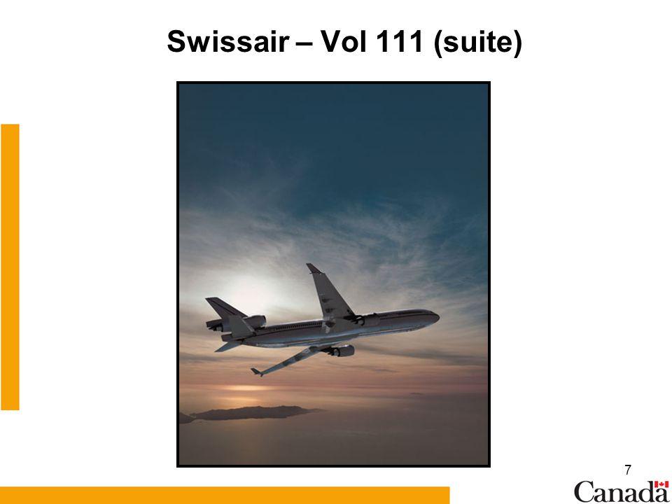 7 Swissair – Vol 111 (suite)