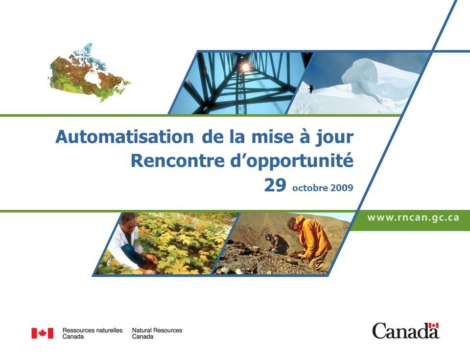 Automatisation de la mise à jour Rencontre dopportunité 29 octobre 2009