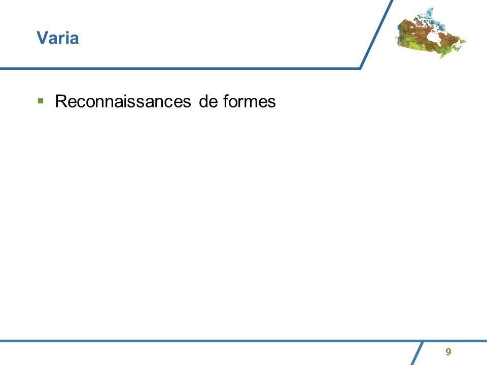9 Varia Reconnaissances de formes