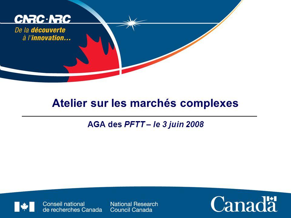 Atelier sur les marchés complexes AGA des PFTT – le 3 juin 2008