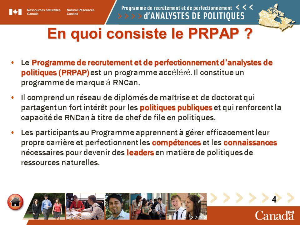 En quoi consiste le PRPAP .