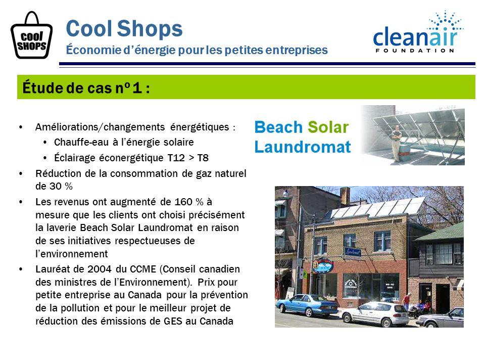 Améliorations/changements énergétiques : Chauffe-eau à lénergie solaire Éclairage éconergétique T12 > T8 Réduction de la consommation de gaz naturel d