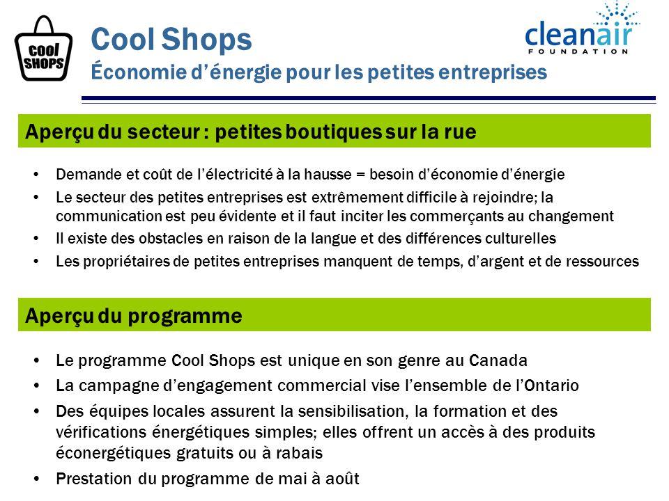 Aperçu du secteur : petites boutiques sur la rue Cool Shops Économie dénergie pour les petites entreprises Demande et coût de lélectricité à la hausse