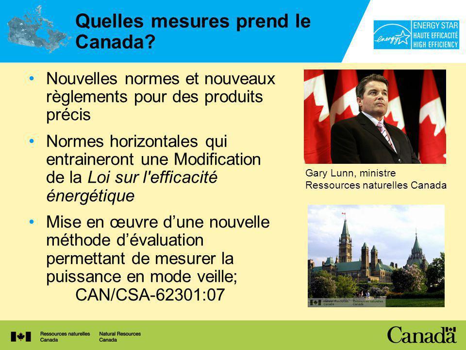 Quelles mesures prend le Canada.