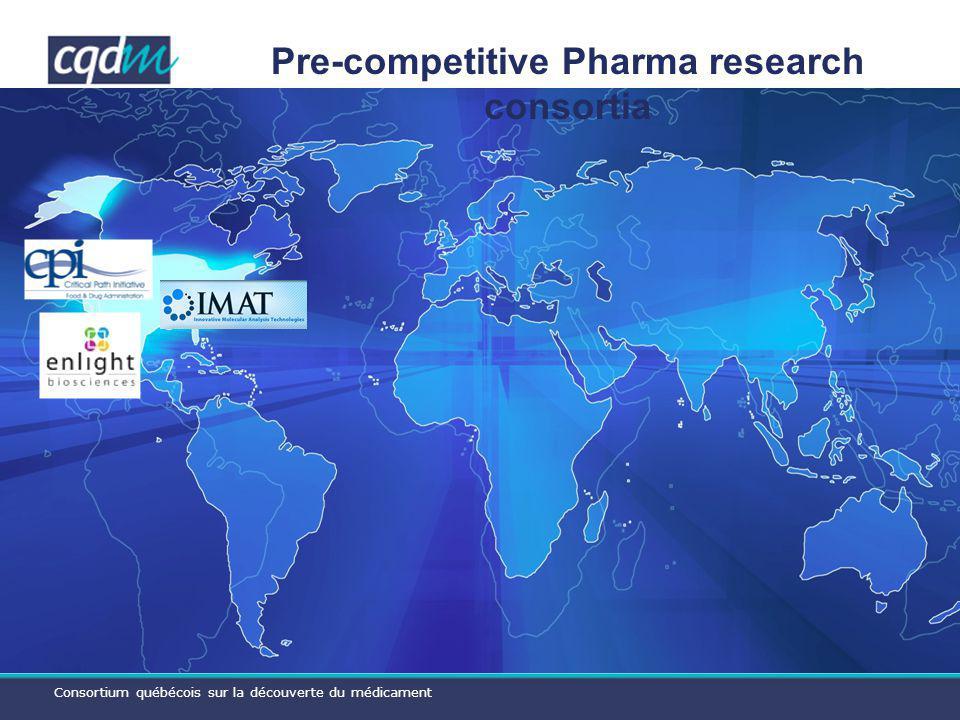 Consortium québécois sur la découverte du médicament Pre-competitive Pharma research consortia